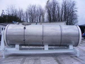 Zabudowa typu hakowiec do przewozu wody spożywczej ze stali kwasoodpornej